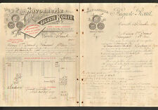 """MARSEILLE (13) USINE / SAVONNERIE """"Gustave SYLVESTRE / Auguste ROUIT Succ"""" 1896"""