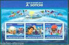 GUINEA   2014  SOCHI OLYMPIC GAMES   IMPERFORATED  SHEET  MINT NH