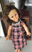 "Vintage 1960 Effanbee Vinyl Plastic Long Hair Character Girl Doll 14"" Tall"