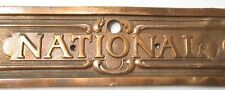 Antique/Vintage Brass National Register Plate