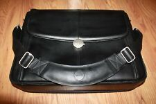 DELL Executive Business Laptop Case Shoulder / Handle Black Leather Protected