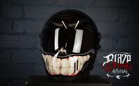 Custom airbrushed Matrix Alpha custom helmet,smiley design bandit simpson style