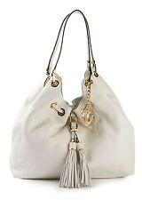 Michael Kors Large CAMDEN Drawstring LEATHER Shoulder Bag *Cream* Ecru/Gold $398