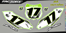 Kawasaki KXF450 13-15 Pre Printed Number plate Backgrounds Accel SERIES