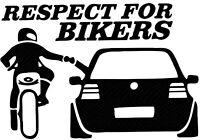 Auto Motorrad Aufkleber Autoaufkleber Car Respekt For Bikers Black Schwarz  GT29