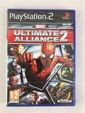 PS2 Marvel Ultimate Alliance 2, Reino Unido PAL, totalmente nuevo y sellado de fábrica, pequeño desgarro