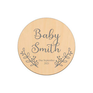 Personalised Wooden Pregnancy Announcement Plaque Sign New Baby Shower Gift