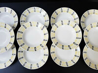 Suite 12 Plates Bowls 1950 Vintage Years 50 Rockabilly 50S 50'S