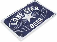Lone Star Beer Old Decor Wall Art Bar Pub Beer Shop Store Cave Metal Sign