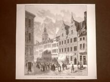 La Contrada del mercato d'Amac e casa di Divecke nel 1863 Danimarca