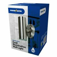 Powermaster IP44 Stainless Steel Outdoor Dual Illumination Up Down Wall Light