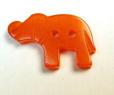 "Vintage Bakelite Button Realistic Elephant Design - 3/4"""