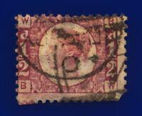 1870 SG49 ½d Rose Plate 4 G4 BW Fair Used Cat £50 crgf