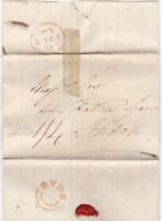 # 1832 ISLE OF WIGHT - UDC RYDE ORANGE INK POSTMARK LETTER WADE >COX & Co LONDON