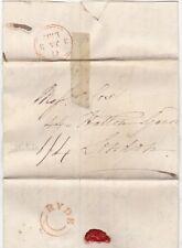 1832 Isle of Wight-UDC Ryde Orange Encre Cachet Lettre Wade pour Cox & Co LONDON