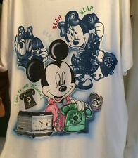 Vintage 1980s Mickey Mouse Minnie Disney Unlimited Jerry Leigh T-shirt Xl Phone