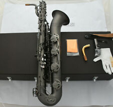 NEW pro.Matt Black nickel Baritone Saxophone Sax Low A With Case