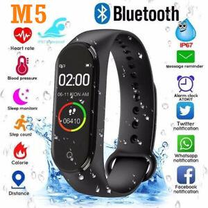 M5 Bluetooth Smart Watch Heart Rate Blood Pressure Fitness FIT#BIT Sport Tracker