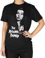 The Addams Family Morticia Women's Oversized Black T-shirt
