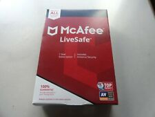 McAfee LiveSafe 1 Year Unlimited Devices.Includes Antivirus Security.E-mail code