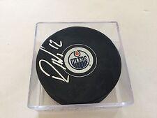 Rob Klinkhammer Signed Edmonton Oilers Hockey Puck Autographed c