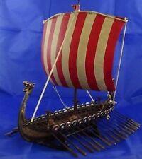 "Drakkar Viking Longship Collectible Replica Ship Model Display Decor 13"" Long"