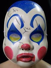 Creepy Clown Doll Costume Mask Haunted Cracked Baby Face Haunted Sideshow Circus