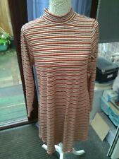 Brown Black White Long Sleeve T-Shirt Style Dress Size 20 Atmosphere