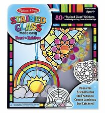 Melissa & Doug Stained Glass Made Easy Heart and Rainbow #9294 NEW