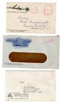 Victoria 3 x Melbourne Postage Paid 1957 advertising covers