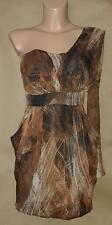 """M M Couture """"Miss Me"""" Beautiful One Shoulder Polyester Strapless Dress—Size S"""