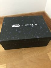 Very Rare Sold Out Mens COACH STAR WARS DARTH VADER Black SNEAKER SHOES Sz 11.5D