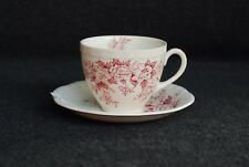 Alfred Meakin Garden Bounty Cup and Saucer Pink Red Staffordshire England