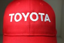 RED TOYOTA WHITE EMBROIDERY OTTO 100% COTTON BASEBALL CAP HAT LARGE