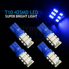 4x T10 Blue 42 SMD LED Wedge Light Side Number Plate Tail Park Globe Bulb 12V