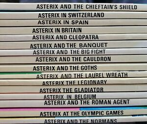 Lot of 16 Vintage Asterix books by Goscinny and Uderzo  - Dargaud Publishing 80s