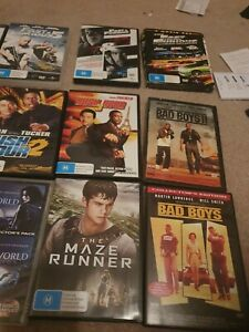 Collection Of Dvds includes Avatar, Bad Boys, The Hobbit, Fast and the Furious