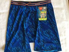 Hanes  X-Temp Performance Cool Boxer Briefs - Medium - Blue Print