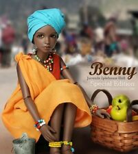 1/4 BJD Doll SD Doll Girl benny Bust: 17.5cm-Free Face Make UP+Eyes-Tan color