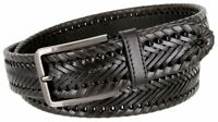BL041 Directional Basketweave Woven Genuine Dress Leather Belt