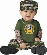 Infant Baby Sergeant Duty Military Officer Costume
