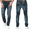 Nudie Herren Slim Fit Röhren Stretch Jeans Hose Blau - Lean Dean Peel Blue