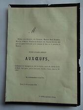 Mr Henri JULIEN AMEDEE AUXOEUFS 1860 Familles LEFEBVRE,TRIBOULET