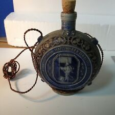 - Vintage Swiss Ceramic Pottery Moon Flask with Coat of Arms