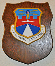 United States Air Force 601st Tactical Control Wing plaque shield crest USAF TCW