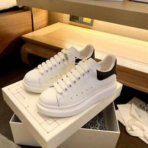 Alexander McQueen Super Classic White Black Tail Casual White Athletic Shoes 6-1