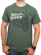 Harley-Davidson Mens Timeless Vintage Cycle Heather Green Short Sleeve T-Shirt