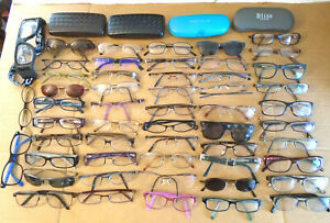 Eyeglasses LOT 50+ Assorted Pre-Owned Prescription Rx Frames Men Women