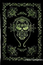 Musical DJ Scull Wall Hanging Small Poster Tapestry Door Decor Hippie Rasta Deco