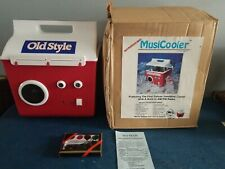 Vtg Old Style Beer can bottle Cooler Am/Fm Radio Battery Powered mint new & box
